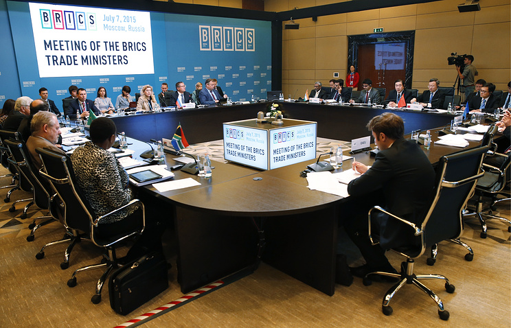 A meeting of the BRICS economy and trade ministers ahead of the 7th BRICS summit in Ufa