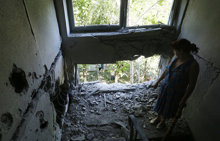 Destructions in Gorlovka, June 2015