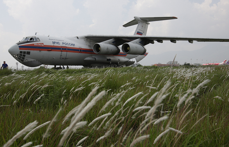 Russian Emergencies Ministry's Il-76 plane