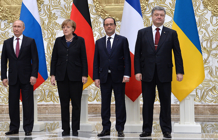 Leaders of Russia, Germany, France and Ukraine