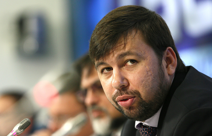 The plenipotentiary representative of the DPR in the Contact Group Denis Pushilin