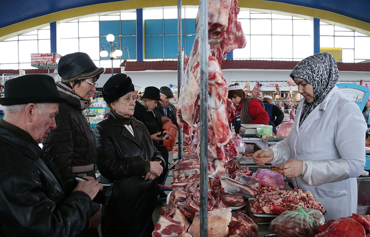At a food market in Crimea