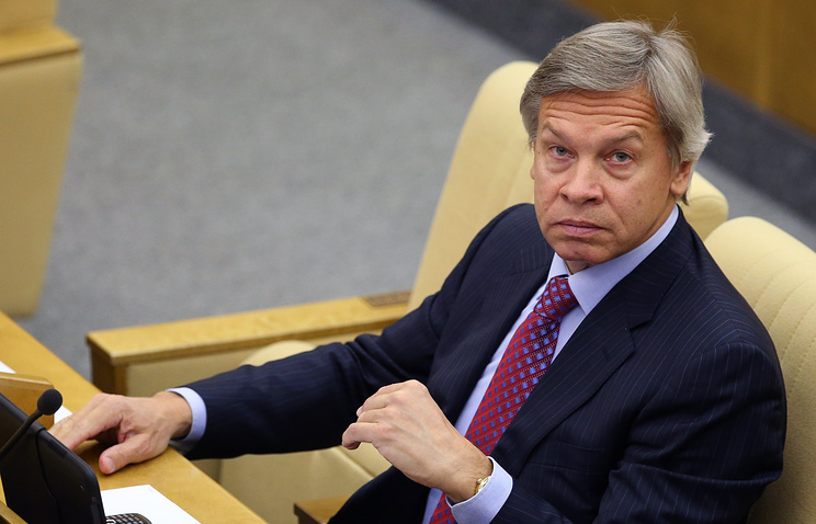 Alexey Pushkov, the chairman of the international committee of the Russian State Duma