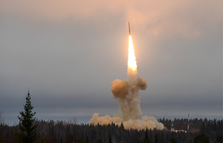 Topol-M ballistic missile launched from the Plesetsk Cosmodrome