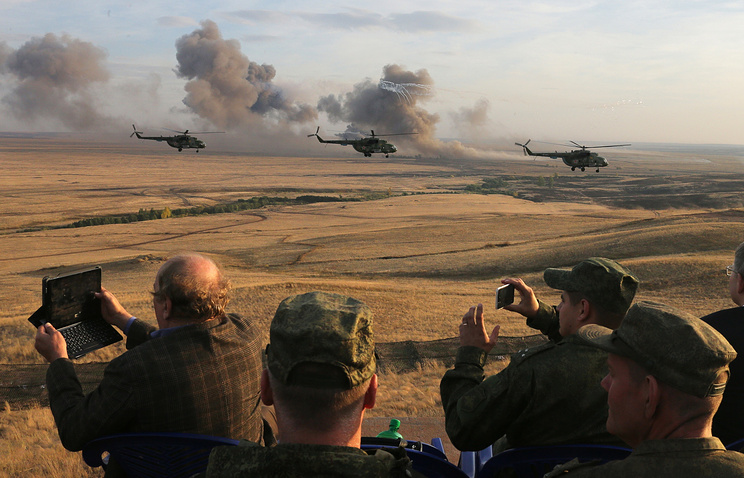 Center 2015 Russian strategic military exercises