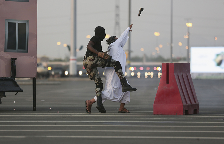 Saudi security forces seen during exercise