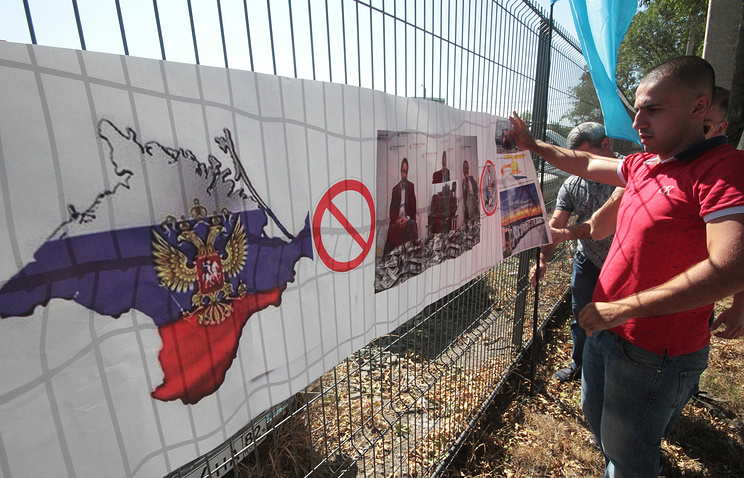 Protest against Crimea's blockade