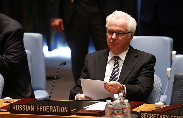 Russia's Ambassador to the United Nations Vitaly Churkin