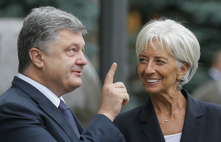 President of Ukraine Petro Poroshenko and Managing Director of the International Monetary Fund Christine Lagarde