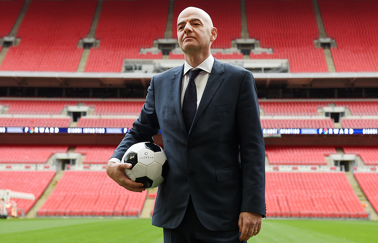 Secretary General and FIFA presidential candidate Gianni Infantino