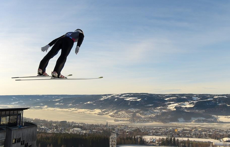 Ski Jumping at the Winter Youth Olympic Games in Lillehammer, Norway