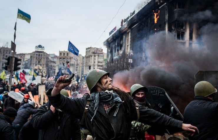 Сlashes in Kiev's Independence Square, February 19, 2014