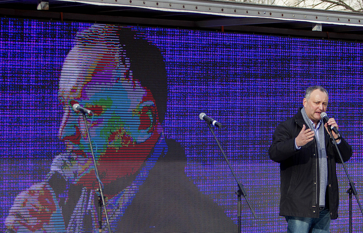 Leader of Moldova's Socialist Party Igor Dodon