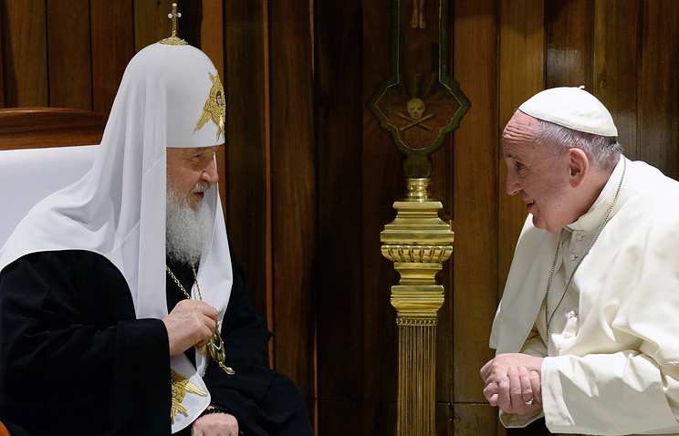 Patriarch Kirill of Moscow and All Russia and Pope Francis