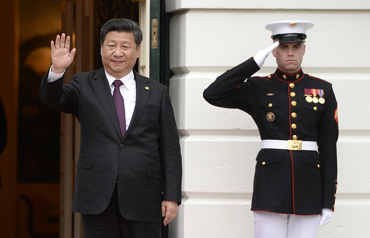 Chinese President Xi Jinping at the White House in Washington