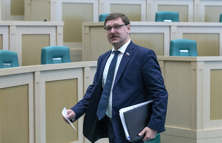 Chairman of Russian Federation Council's International Affairs Committee Konstantin Kosachev