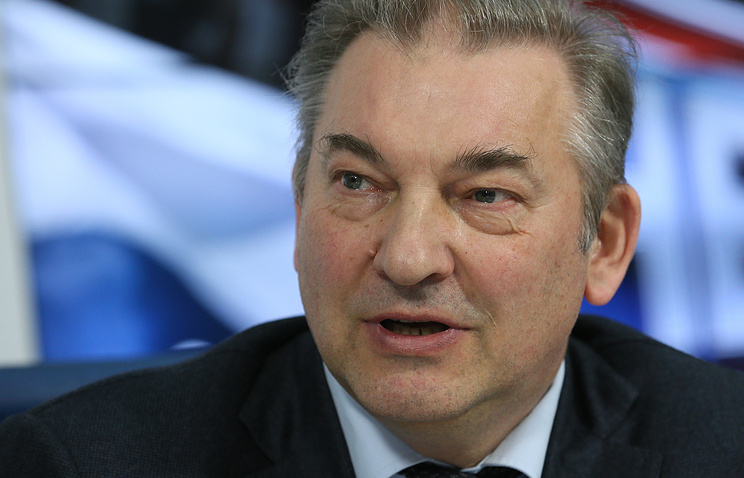 Vladislav Tretiak, the president of the Russian Ice Hockey Federation