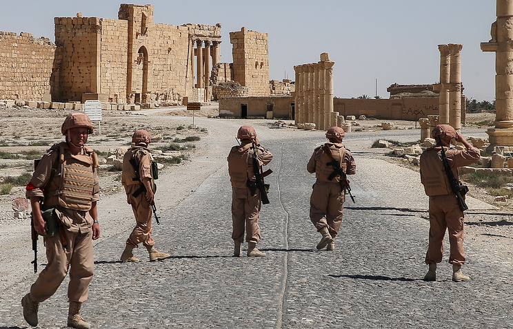 Russian soldiers in Syria