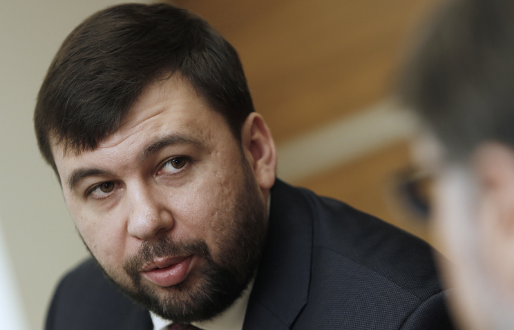 DPR's envoy to the Contact Group Denis Pushilin