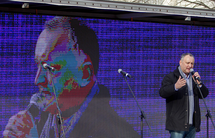 Igor Dodon, the leader of the Socialist Party of Moldova