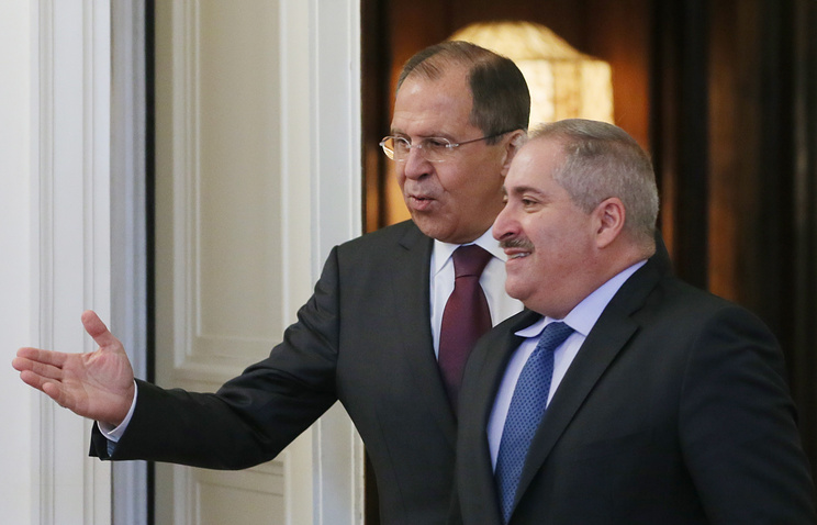 Russian and Jordanian Foreign Ministers, Sergey Lavrov and Nasser Judeh