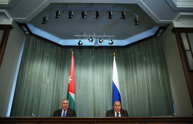 Jordanian and Russian Foreign Ministers, Nasser Jodeh and Sergei Lavrov