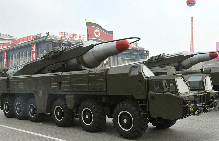 North Korean missiles in Pyongyang (archive)