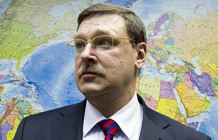 Konstantin Kosachev, the chairman of the international committee of Russian Federation Council upper parliament house