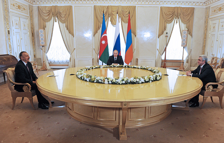 The meeting of presidents of Russia, Armenia and Azerbaijan