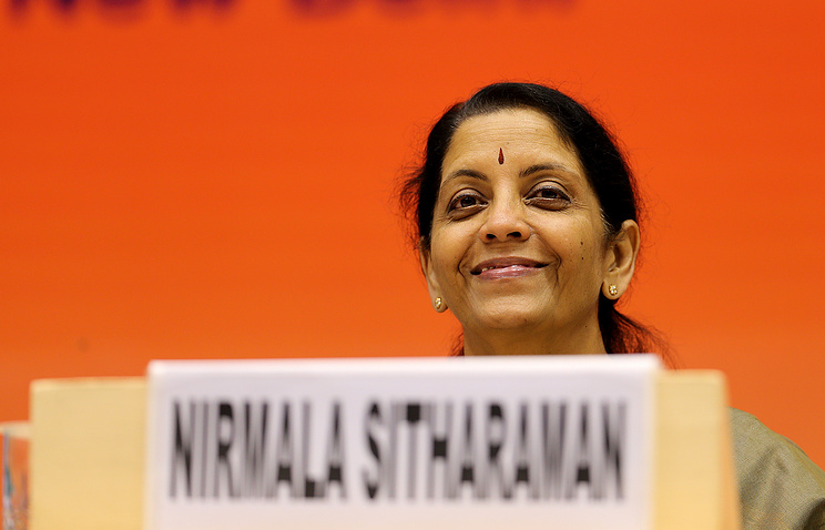 Indian Minister for Commerce and Industry Nirmala Sitharaman