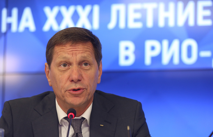 Alexander Zhukov, the president of the Russian Olympic Committee