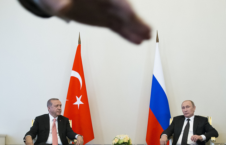 Turkish and Russian presidents, Recep Tayyip Erdogan and Vladimir Putin