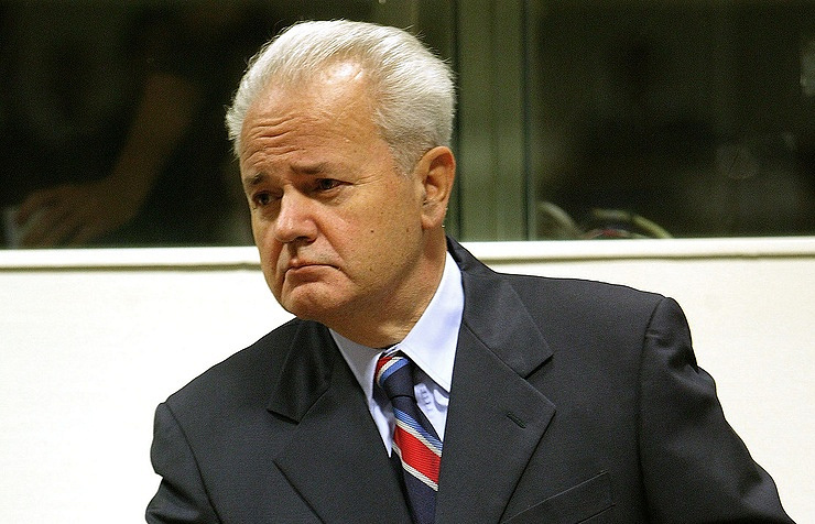 Slobodan Milosevic, the ex-president of Serbia and the former Yugoslavia