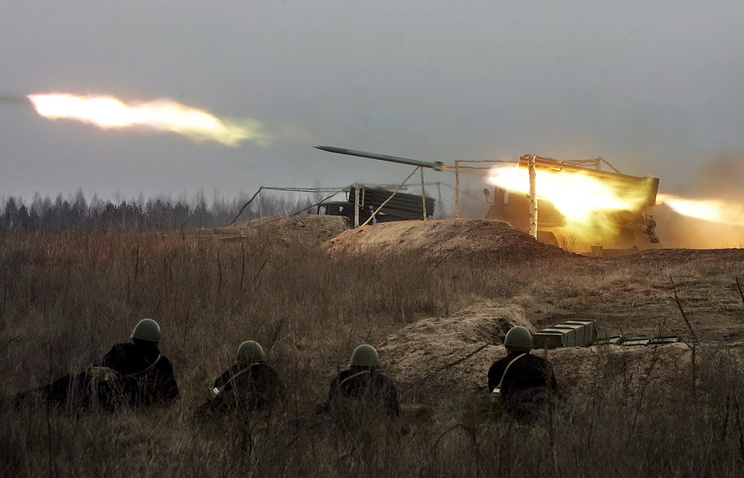 Grad missile system during drills in Ukraine (archive)