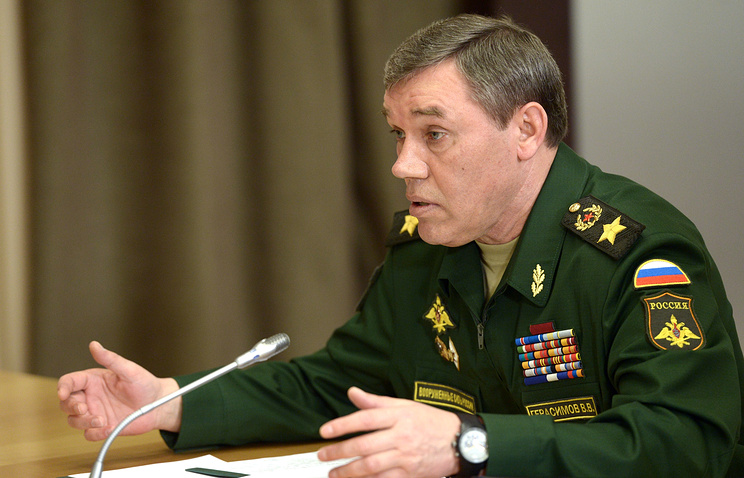 Russia's General Staff Chief Valery Gerasimov