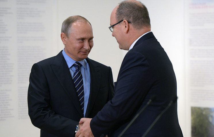 Russian President Vladimir Putin and Prince Albert II, of Monaco