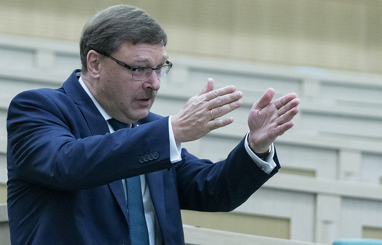 Konstantin Kosachev, chairman of the Federation Council's International Affairs Committee