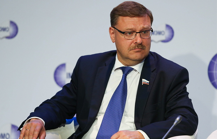 Konstantin Kosachev, chairman of the International Affairs Committee of Russia's Federation Council