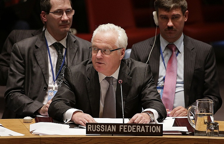 Russia's Permanent Representative to the United Nations Vitaly Churkin