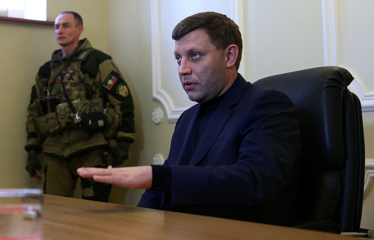 Head of the self-proclaimed Donetsk People's Republic, Alexander Zakharchenko