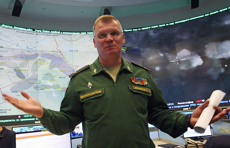 Russia's Defense Ministry spokesman Major-General Igor Konashenkov