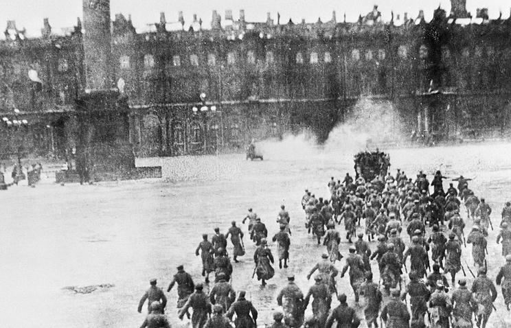 Assault on the Winter Palace during the 1917 October Revolution