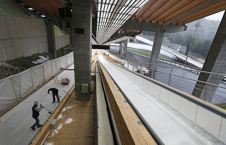 Bobsleigh center in Sochi