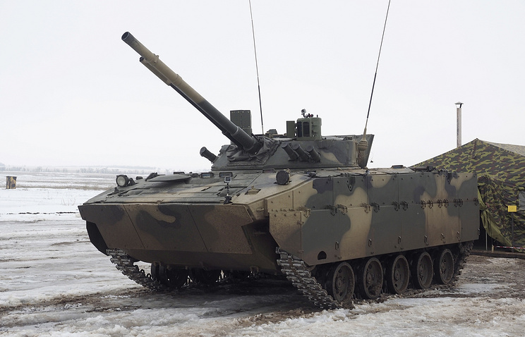 A modernised BMD-4M air deployable combat vehicles