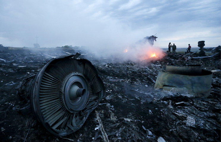 The site of the crash of Malaysia Airlines Boeing-777