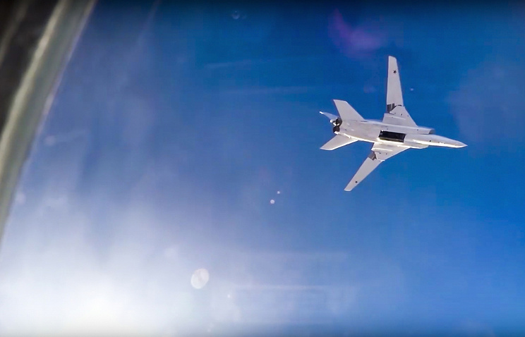 Russian long range bomber taking off from a base in Iran, August 16, 2016