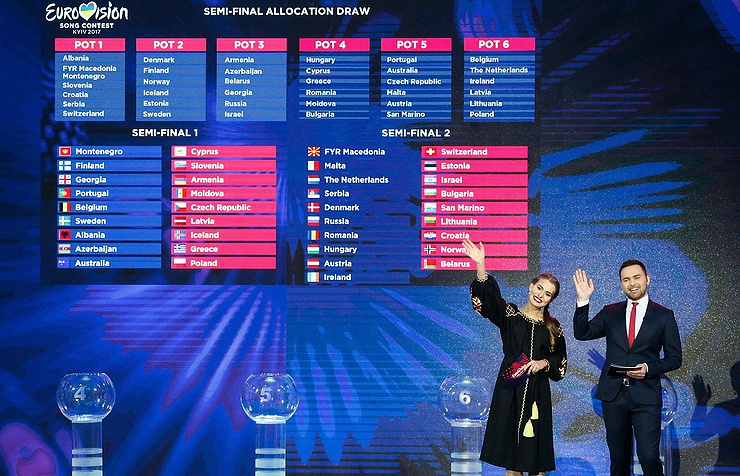Eurovision-2017 semi-final allocation draw