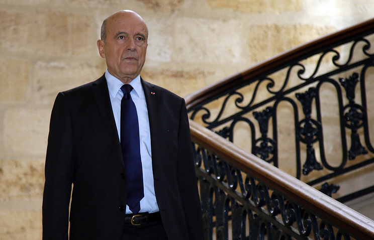 Former French prime minister Alain Juppe