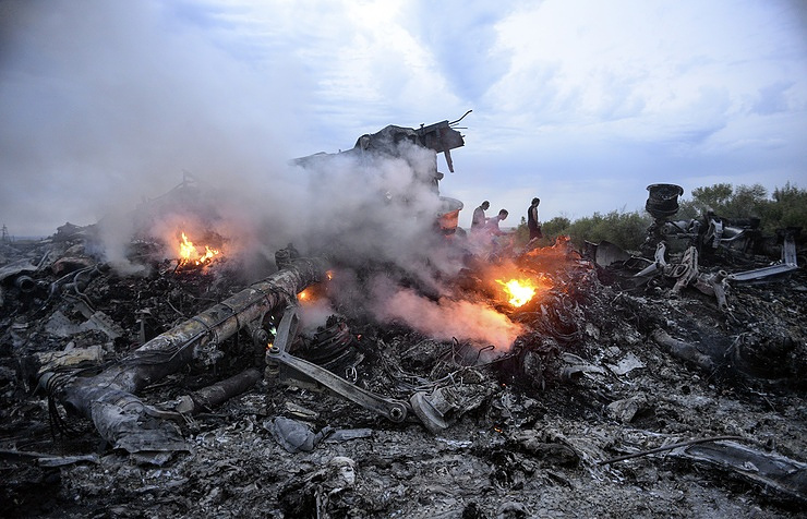 The site of Boeing 777 crash in Donbass