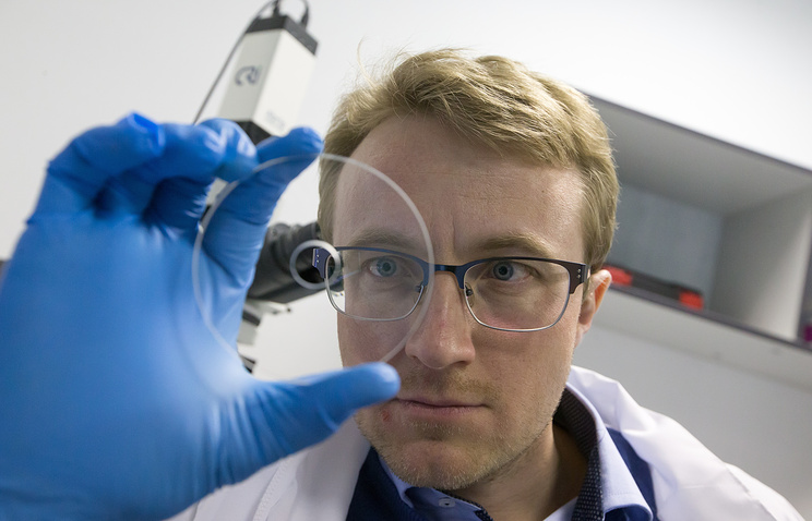 Ivan Glebov, head of the Moscow-based laboratory of laser nano-structuring of glass